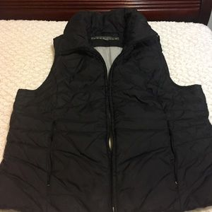 KENNETH COLE  REACTION Black Puffer Vest Size L